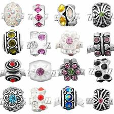 Ten (10) of Assorted Shades of Crystal Rhinestone Beads