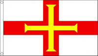 GUERNSEY FLAG 5' x 3' Channel Islands Jersey Alderney Sark