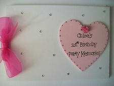 Personalised 21st Birthday Guest Book/Photo Scrapbook ANY COLOUR!