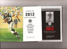 2012 GOAL LINE ART CARD SET Curtis Martin, Chris Doleman, Willie Roaf, Butler