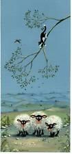 "MARK DENMAN  CAT PICTURE SIGNED  PRINT ""soft landing"""