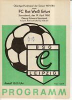 OL 79/80 BSG Chemie Leipzig - FC Rot-Weiß Erfurt