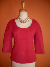 New Talbots Size 8P Antique Rose Pink Double Faced Wool Jacket Blazer