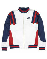 Nike Mens NSW RE-ISSUE ZIP-UP WOVEN TRACK Jacket White/Blue/Red CJ4921-100 SMALL
