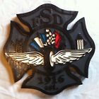 Speedway Fire Department Shield 3D routed wood patch plaque sign Custom Carved