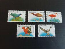 SURINAM 1985 SG 1248-1252 BIRDS  MNH