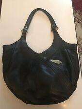 orYany Tracy Italian Grain Leather Hobo Bag Black Tassel Handbag Purse