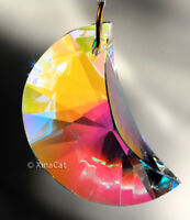 Crescent Moon 40mm Austrian Crystal Clear AB Prism SunCatcher 1-1/2 inch