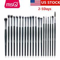 US 20Pcs Eyeshadow Brow Makeup Brush Sets Eyeliner Blending Lip Brushes Kit Tool