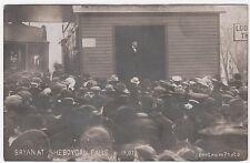 WJ BRYAN  at Sheboygan Falls WI REAL PHOTO Postcard