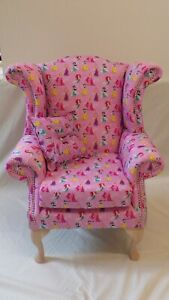 Child size  Queen Anne style chair in Disney Princesses theme