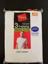 White Hanes Best Crew T-Shirts (Pack of 3) Medium