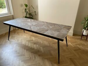 Reclaimed Teak Hardwood Top / 8-person Dining Table / BRAND NEW