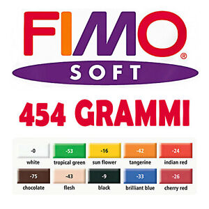 Maxi Pan Large FIMO Soft Modelling Paste 10 Colours New Format 454 Gr