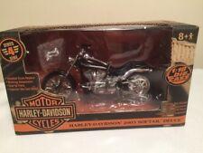 Harley Davidson Replica 2003 Softail Deuce 1:18 Motorcycle Diecast ERTL Collect