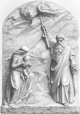 GENESIS MOSES STRIKES ROCK WATER DESERT, 1869 BIBLE Religion Art Print Engraving
