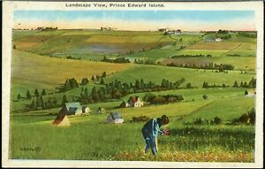 Landscape View PEI, post card Canada