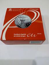 ESPAÑA. 2010. 10 EURO EN PLATA. PRESIDENCIA ESPAÑOLA EN EUROPA
