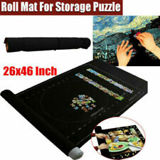 Jigsaw Puzzle Felt Storage Mat Roll Up Puzzle Storage Up To 1500 Pieces Game BK*