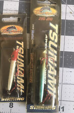 Lot of 2- Tsunami Zig Jig Fishing Lure New In Package Smelt /Red Head White