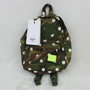 New Herschel Supply Company Woodland Camo White Polka Dot Canvas Backpack