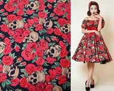 140CM*50CM  Halloween Goth fabric material 100% cotton dressmaking skulls tissue