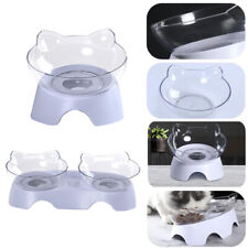 Dish Tilted Transparent Cats Bowl Protect The Spine Cat Ears Shaped Pet Feeder