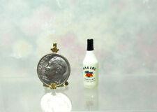 Dollhouse Miniature Plastic Caribbean Rum Bottle
