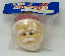 "New VTG  5.5""  Santa Doll Head for Craft Art Project Christmas Holiday DIY RETRO"