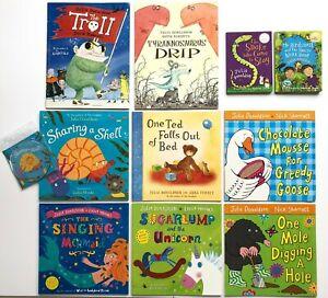 Children's Book Bundle. 10 Julia Donaldson Kids Picture Story Books Plus CD.