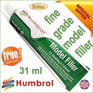 Humbrol Model Filler 31ml Tube Modelling Body Putty Plastic Kit Gap Fill