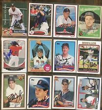 Various Boston Red Sox Signed Cards You Pick Autographs Free Ship M-Z