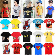 Summer Kids Boys Cartoon Printed Tops T shirts Summer Short Sleeve Blouse Tee
