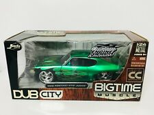 JADA DUB CITY BIG TIME MUSCLE CC 1969 PONTIAC GTO JUDGE W/ Flames 1/24 GREEN