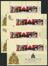 Weeda Canada 1737b-e VF MNH set of 4 S/S of 2, Signature/Overprints CV $18