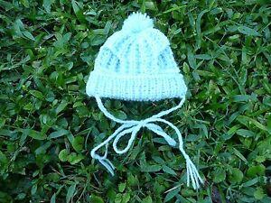 XXXS handmade knit Blue/Pink/Yellow dog hat