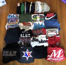 Huge Clothing Lot Of 42 Vintage Nike Jersey Shirt Snapback Reseller Wholesale