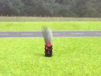 1:87 H0 Öl Fass Brennend Rostig LED 12V Feuer Rauch Rostlöcher Patina #2