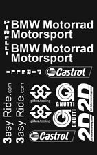 BMW S1000RR Sponsor kit Decals / Stickers BMW in WHITE Belly pan adesivi aufkleb