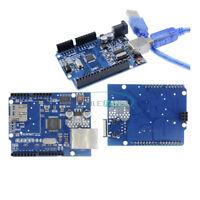 UNO R3 ATmega328P CH340G USB W5100 Ethernet Shield Expansion Board For Mega2560