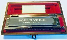 Qimei 16 Hole Chromatic Harmonica Soul's Voice Buckeye ABS-Chrome w/Wooden Case