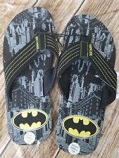 a2adb364f Batman Men s DC Comics Super Hero Black Sandals Flip Flop Flops S ...
