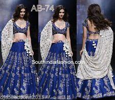 Designer Wear blue Banglore Silk Elegant Lehenga Choli
