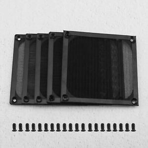 120mm PC Computer Fan Cooling Dustproof Dust Filter Case Stainless Steel Black
