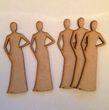 5x Wooden bridesmaid 3 Mm Thick Mdf Wedding Decoration Shape Blank