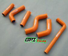 For KTM 400EXC 525EXC 2002 2003 2004 2005 2006 Silicone Radiator Hose,orange