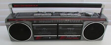 Vtg General Electric GE Boombox Radio Dual Cassette FM/AM Radio Model 3-5631A