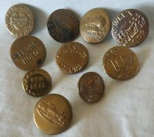 Bb Assortment 10 OVERALL BUTTONS WOBBLE SHANKS OLD