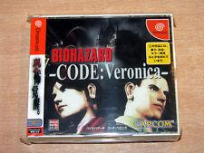 sega dreamcast-biohazard code: veronica von capcom + spine card/japanisch