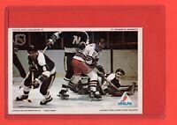 1971-72  Vic Hadfield/Cesare Maniago   Pro Star NHLPA Postcard nrmnt-mt
